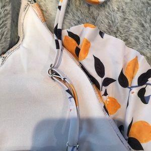SHEIN Swim - White Lemon Print One Piece Swimsuit